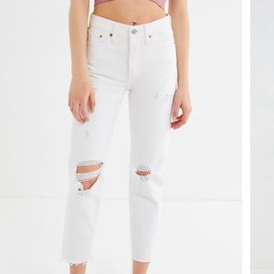 Levi's High-Rise Distressed Premium Wedgie Jeans